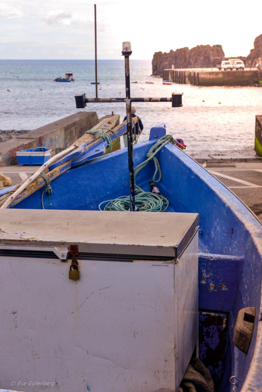 Fiskebåt i Camara de Lobos