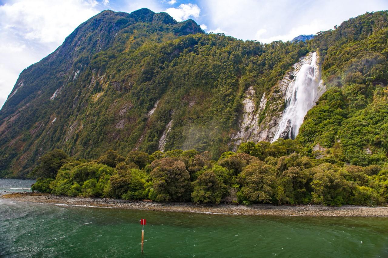 Vattenfall i Milford Sound
