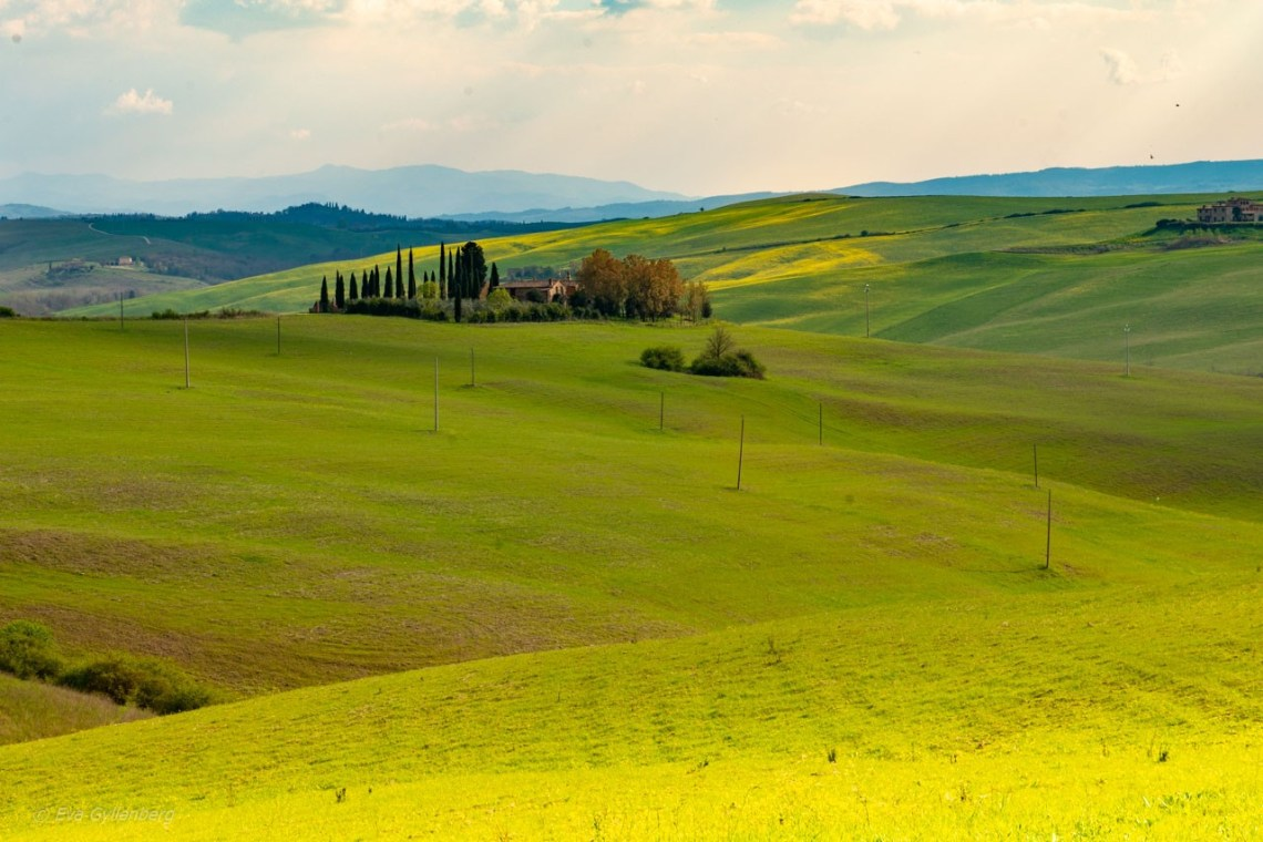 Rullande kullar i Toscana-Val-d'Orcia