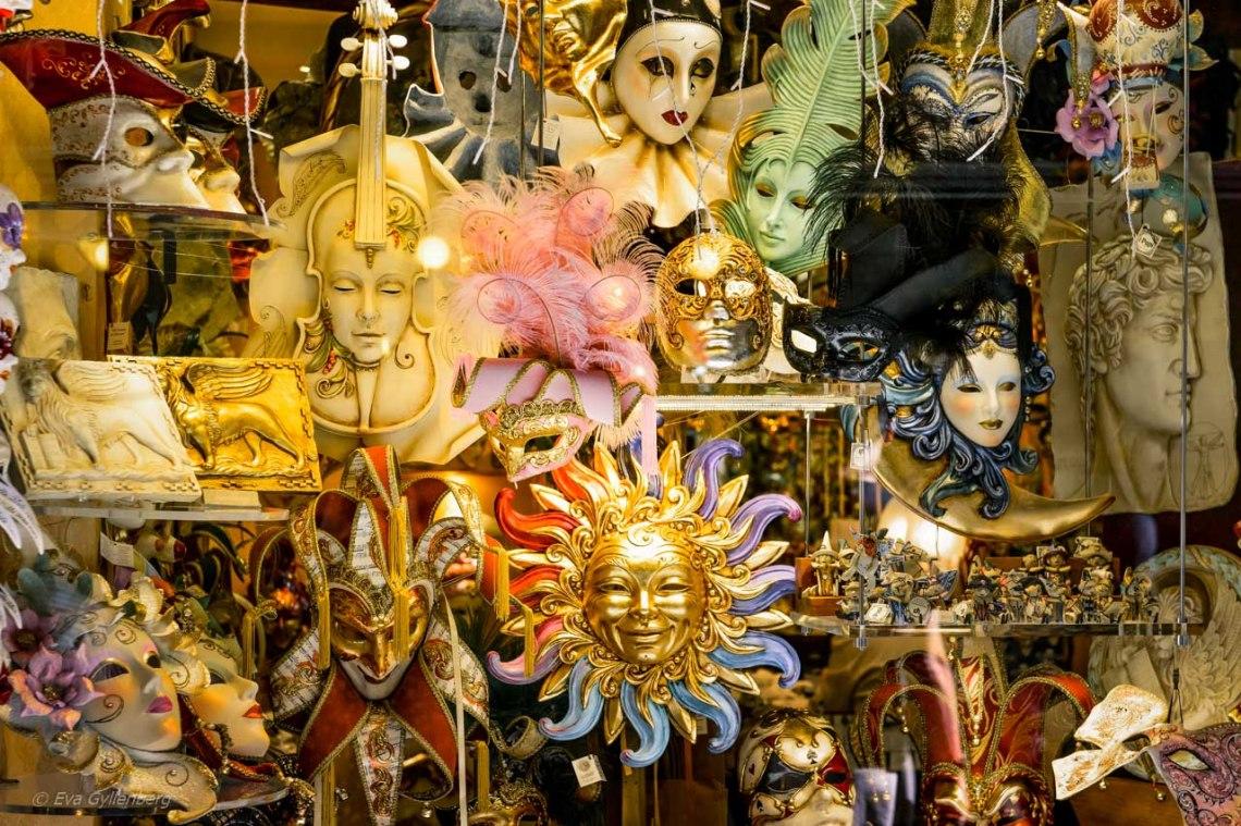 Masker för karnevalen i Venedig
