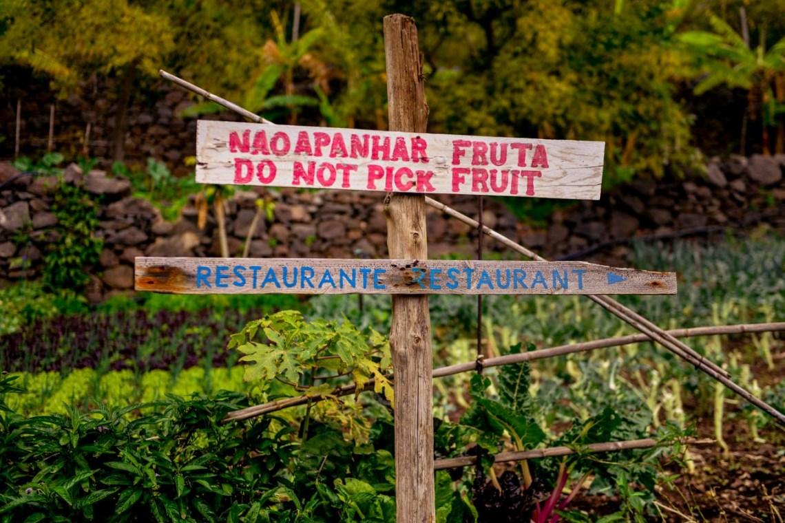 Do not pick fruit-skylt