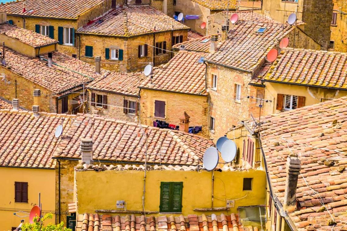 Tak från ovan i Volterra