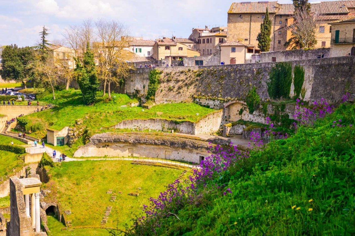 Romerst utgrävning i Volterra