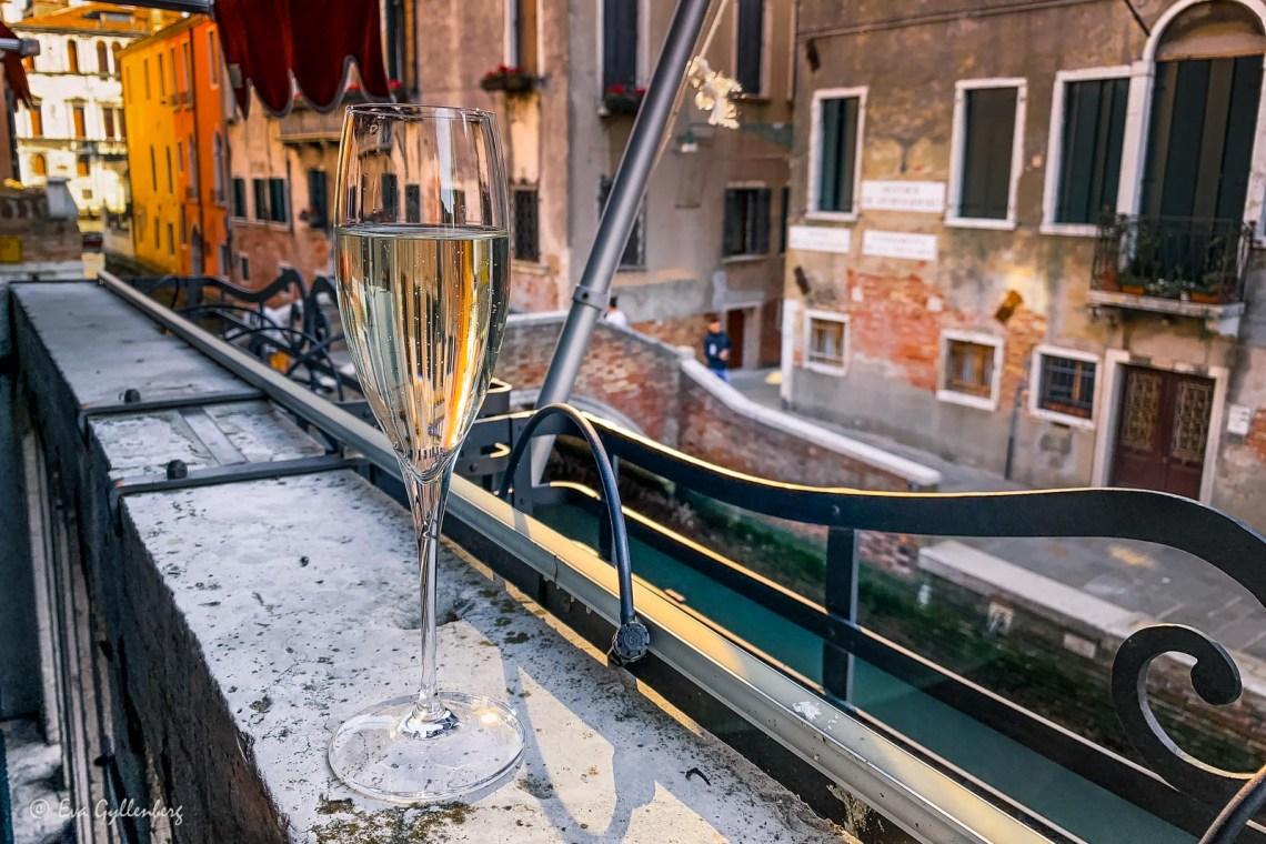 Champagne på Palazzetto Madonna