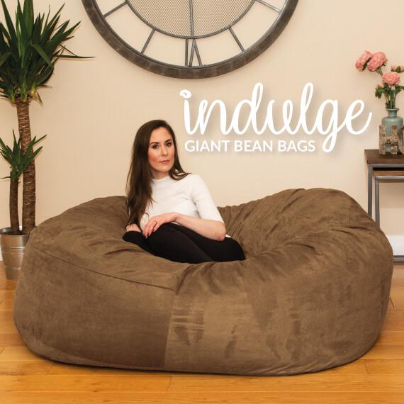 giant bean bag chair poul jensen armchair adult bags chairs rucomfy beanbags
