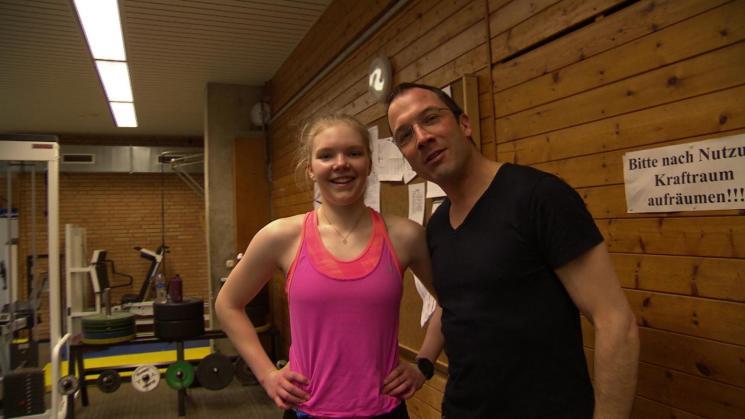 Judith Guhse mit ihrem Trainer Marc Swienty. Foto: Ulrich Koglin