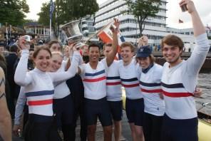 Die Siegermannschaft des Ersten Kieler Ruder-Clubs 2013