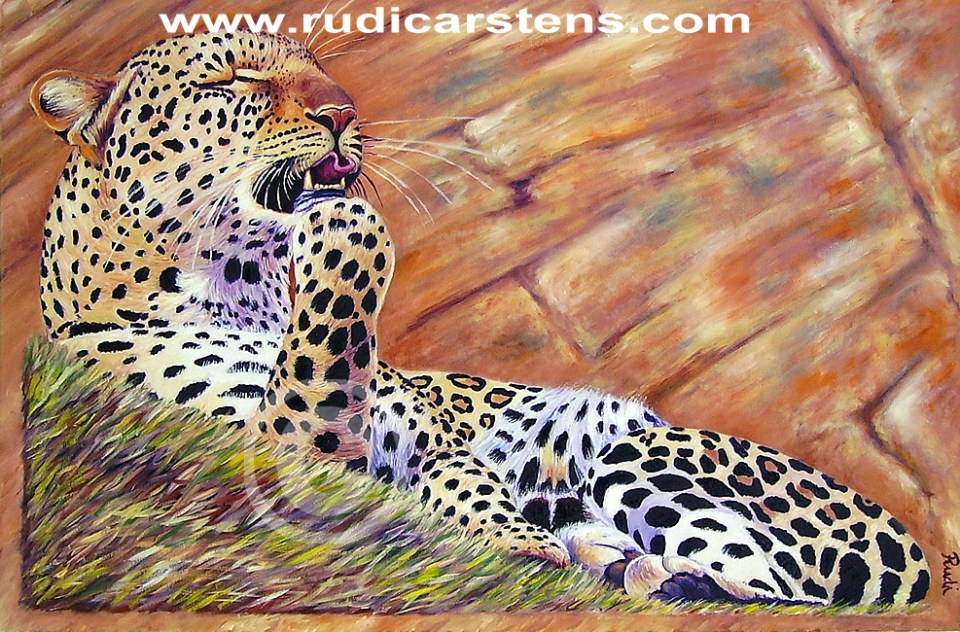 Oil Painting of Leoprad