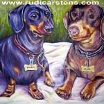 Dog Potrait Painting by Rudi Carstens