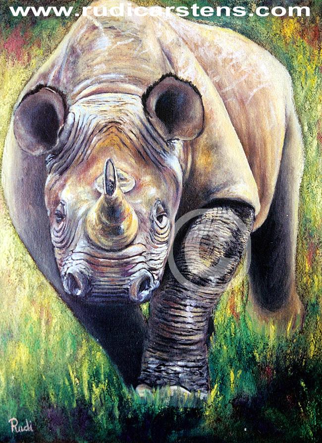 Wildlife Painting by Rudi Carstens