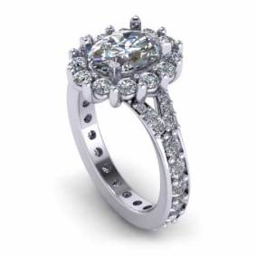 Haloe Oval Engagement Ring