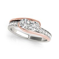 2 Stone Engagement Ring
