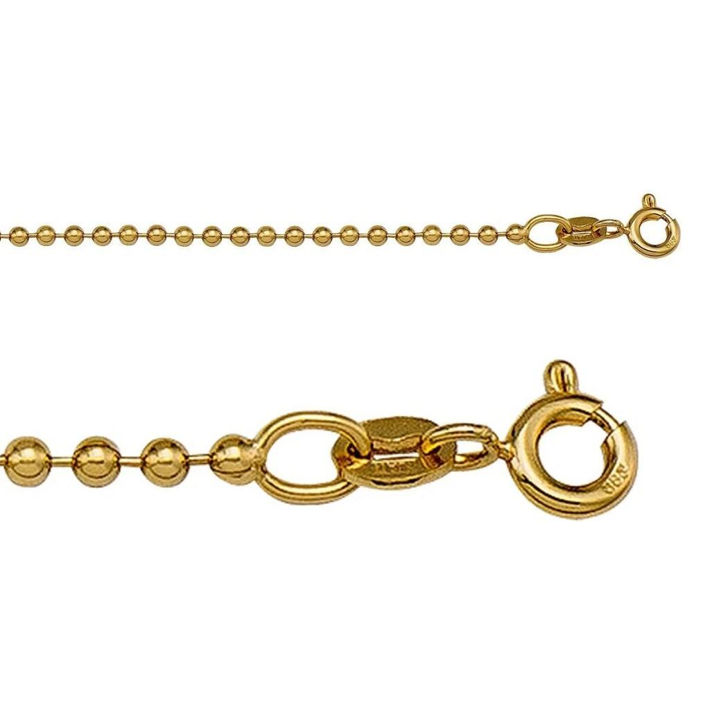 yellow gold bead chain