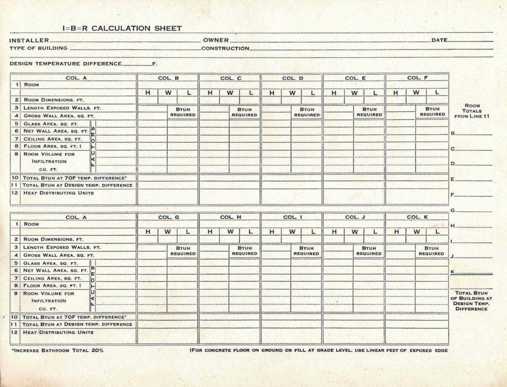 Hvac Residential Load Calculation Worksheet