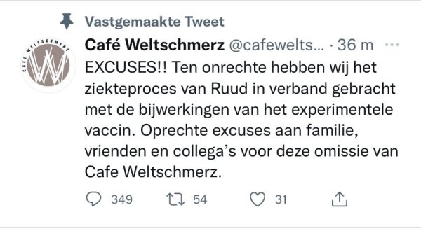 Café Weltschmerz damage control