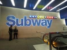 NYC Subway at Times Square by Rudy Giron