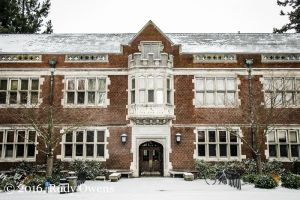 Eilliott Hall, Reed College in Portland, Oregon, January 2016