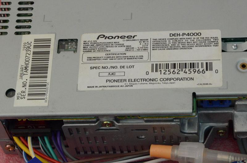 Pioneer Super Tuner 3 Wiring