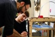 Théo et Stéphane imprimante 3D - FabLab