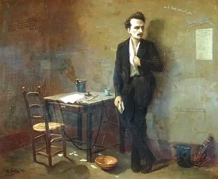 Henri Rochefort à la prison de Mazas. Tableau d'Armand Gautier, 1871 (Musée d'Art et d'Histoire, Saint-Denis, France).