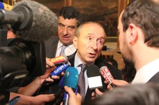 Gérard Collomb à la préfecture, ce dimanche 23 mars.