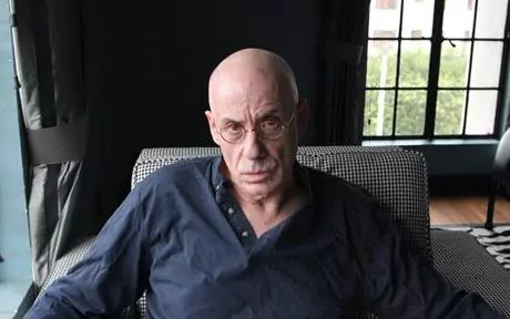 James Ellroy photographed at home in Los Angeles, 2009.