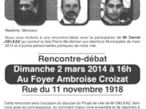 Recto et vers du tract de Daniel Deleaz, candidat à la maire de Pierre-Bénite.