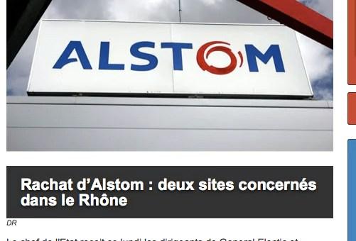 Rachat d'Alstom : des sites concernés dans le Rhône