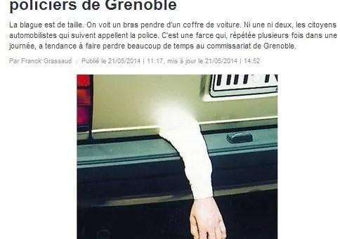 Les faux bras ne font pas rire les policiers de Grenoble