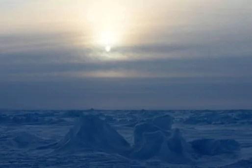 Un paysage au pôle Nord, le 10 avril 2014 (London News Pictures/RE/REX/SIPA)