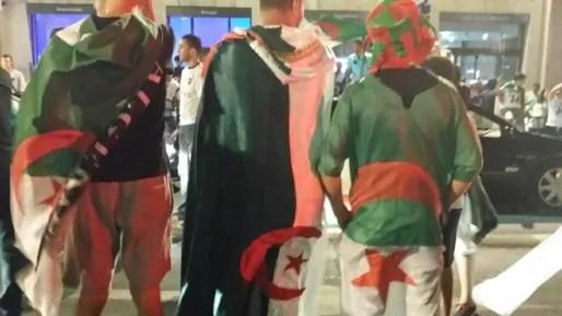 Dans les rues de Lyon à l'issue du match Algérie-Russie. Crédit : Rue89Lyon.