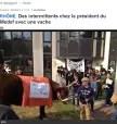 «Meuhdef» : des intermittents et une vache occupent l'entreprise du président du Medef Rhône
