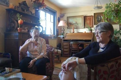 Nicole Voyant (à droite) et Élisabeth Schabo, 70 et 83 ans, vivent dans les Gratte-Ciel respectivement depuis 1945 et 1949. © Bertrand Enjalbal