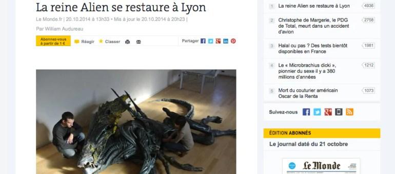 La reine Alien trône au Musée miniature et cinéma de Lyon
