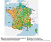 Carte de France de la qualité de vie selon l'étude de l'INSEE.