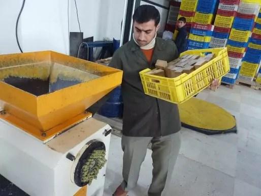 La fabrication des savons d'Alep pour l'entreprise Najel. DR