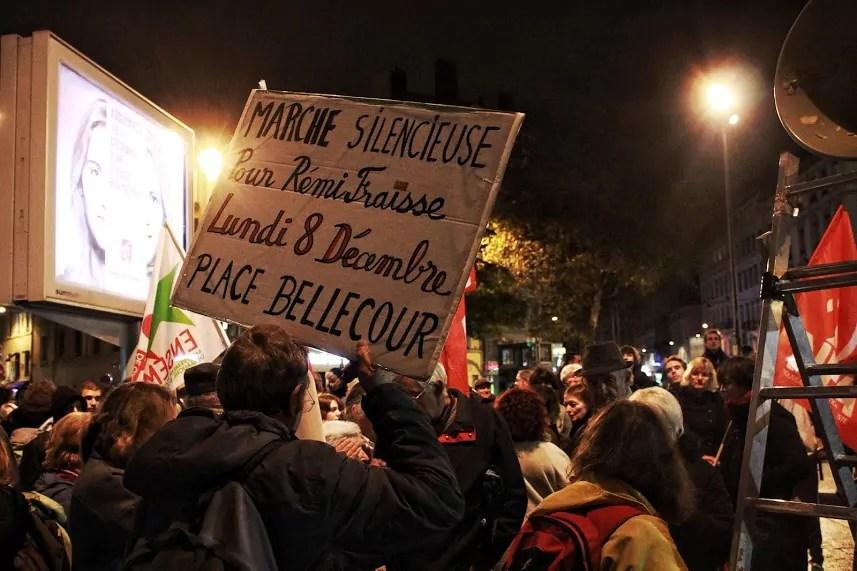Dans la manifestation, cette pancarte. ©Damien Renoulet/Rue89Lyon