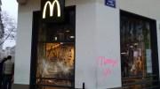 La vitrine du McDonald's de la Guillotière. ©LB/Rue89Lyon