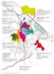 Cartes des aménagements. Source : www.saint-etienne.fr/cadre-vie/projet-urbain.