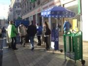 Distribution journaux 20Minutes et Metronews métro Cordeliers / Crédits AxeL Poulain/Rue89Lyon