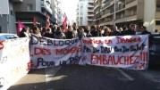 Le 12 février, les agents du Vinatier étaient appelés à faire grève et à se réunir devant l'ARS. ©LB/Rue89Lyon