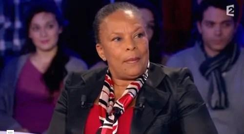 """Christiane Taubira invité de """"On n'est pas couché"""" le 21 février 2015. Capture d'écran France 2"""