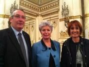 Christiane Agarrat (UMP) au milieu de ses deux suppléants. Crédit : Rue89Lyon.