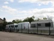 Les caravanes installées à Lozanne depuis le 1er mai. Capture d'écran Le Progrès