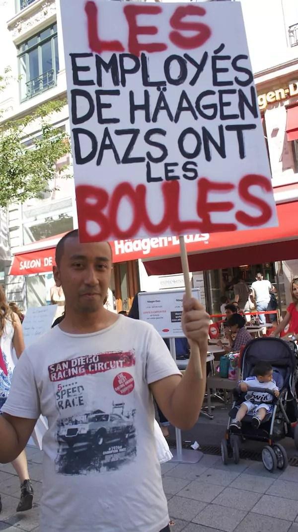 Vannak Vong, ex-syndicaliste de Häagen-Dazs Lyon. ©DR