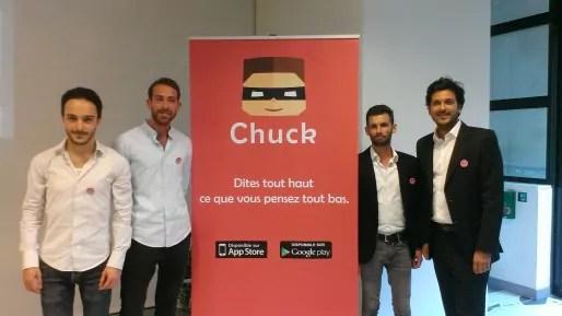 Les quatre fondateurs de Chuck