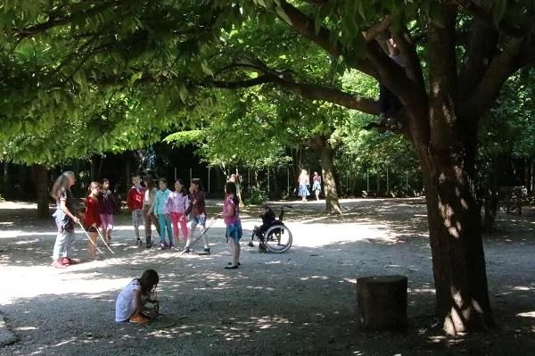 L'après-midi quand il n'y a pas cours, les enfants peuvent quand même être accueillis, en jeu libre  (crédit : LM / Rue89Lyon©)