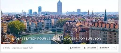 Capture d'écran de l'événement Facebook.