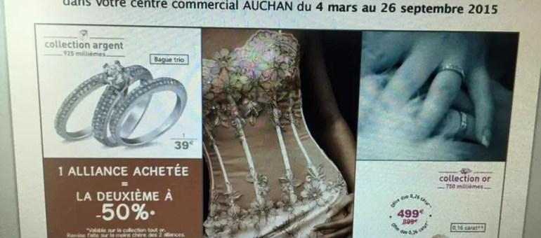 Mariage gay : Auchan modifie son offre pour les alliances
