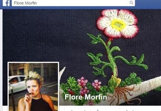 Capture d'écran de la page Facebook de Flore Morfin, aka DJ Flore.